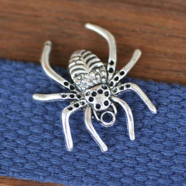 Schmuckanhänger Spinne, silberfarben, ca.3cm groß